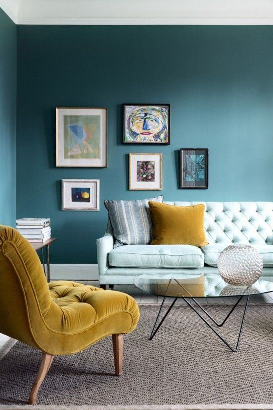 Azul petrolisado sendo usado na decoração de sua casa