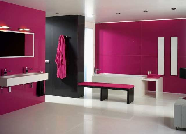 Decorar Bano De Color Fucsia Decorar baño de color fucsia