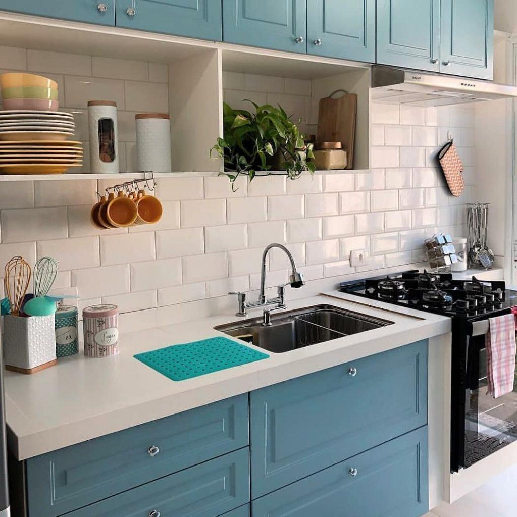 Petroleo azulado fraco na sua cozinha