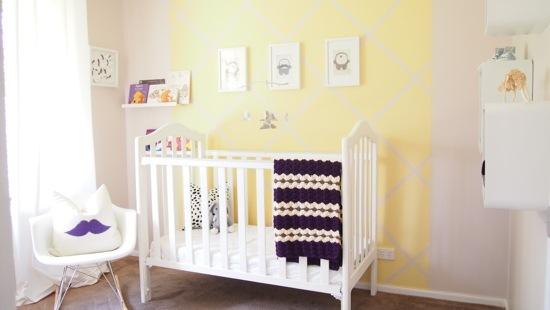 Quarto em amarelo decorados para bebes