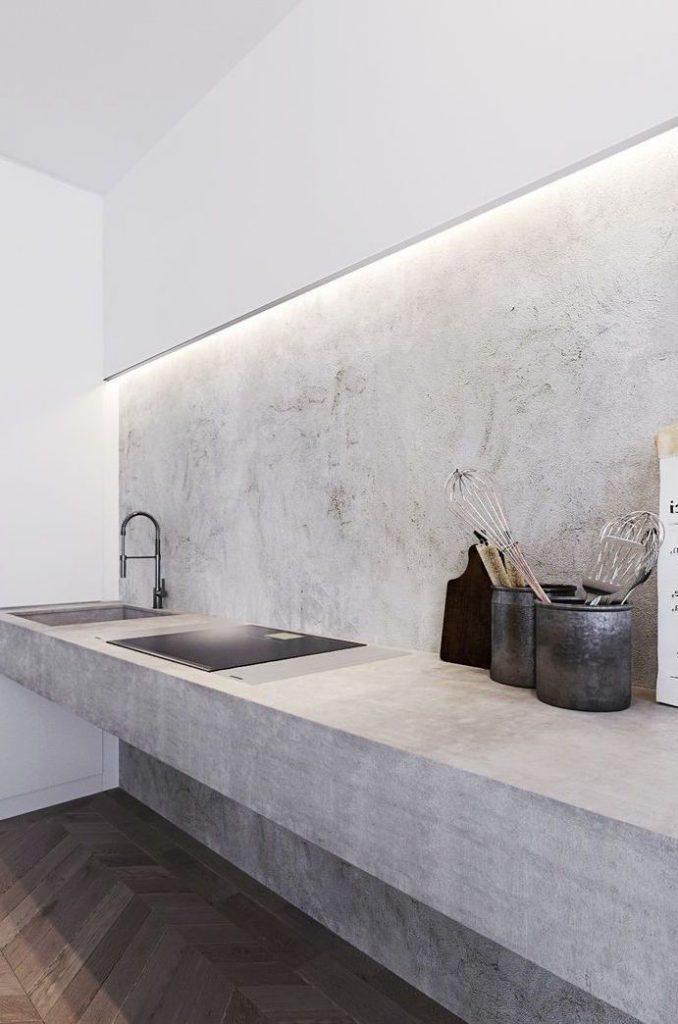 Parede do banheiro com texturas brancas