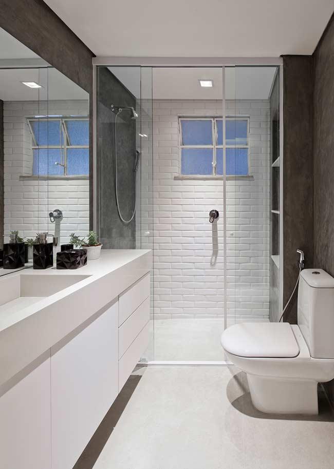 ceramica para parede branca no banheirp