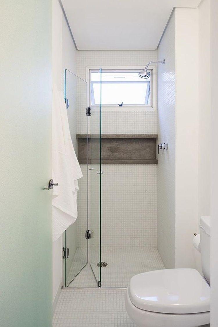 banheiro pequeno entrada de vidro
