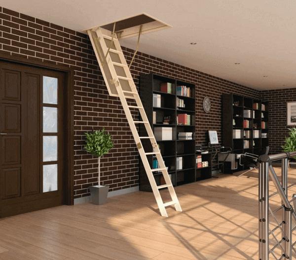 escada clara para subir