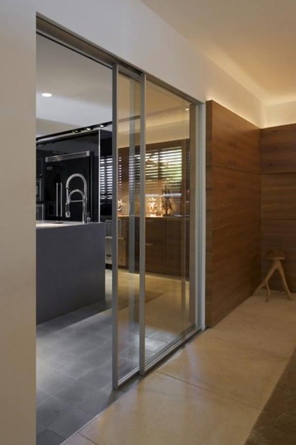 porta balcão de vidro para cozinha dupla