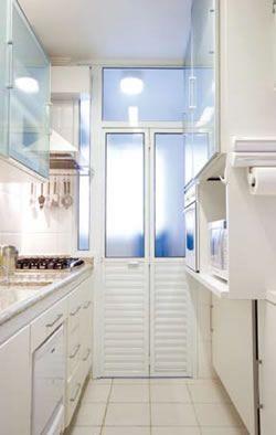 porta camarão branca na cozinha