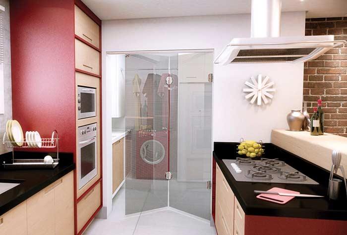 porta camarão de vidro para a cozinha