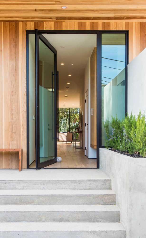 porta de aluminio com vidro para a sala