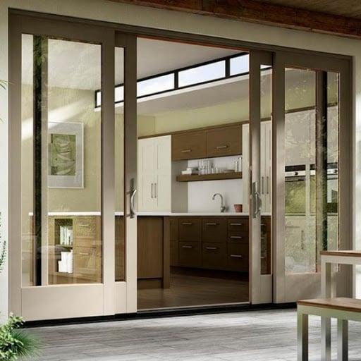porta de aluminio com vidro para cozinha duas folhas