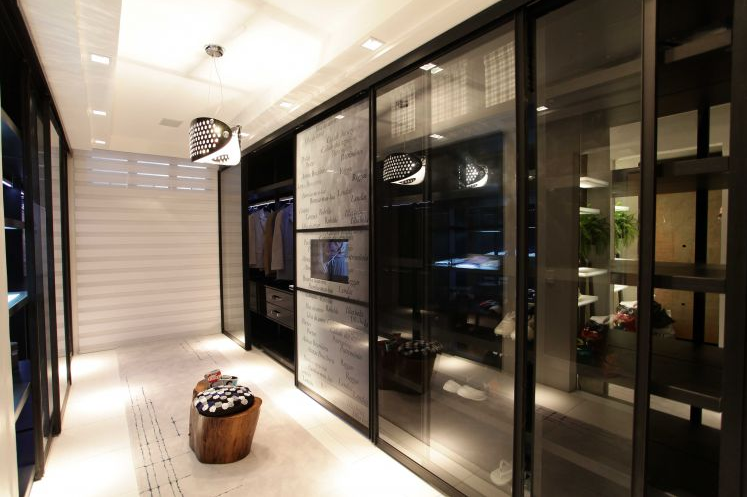 porta de vidro fume para cozinha grande