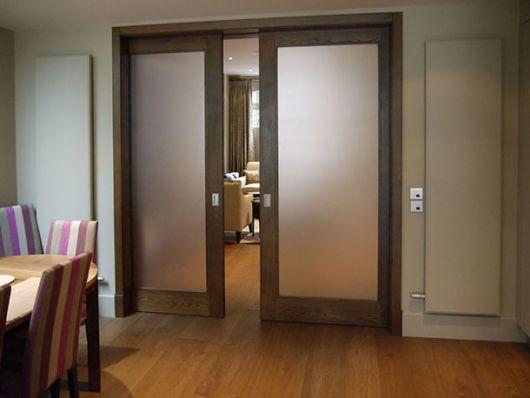 porta de vidro fume para cozinha