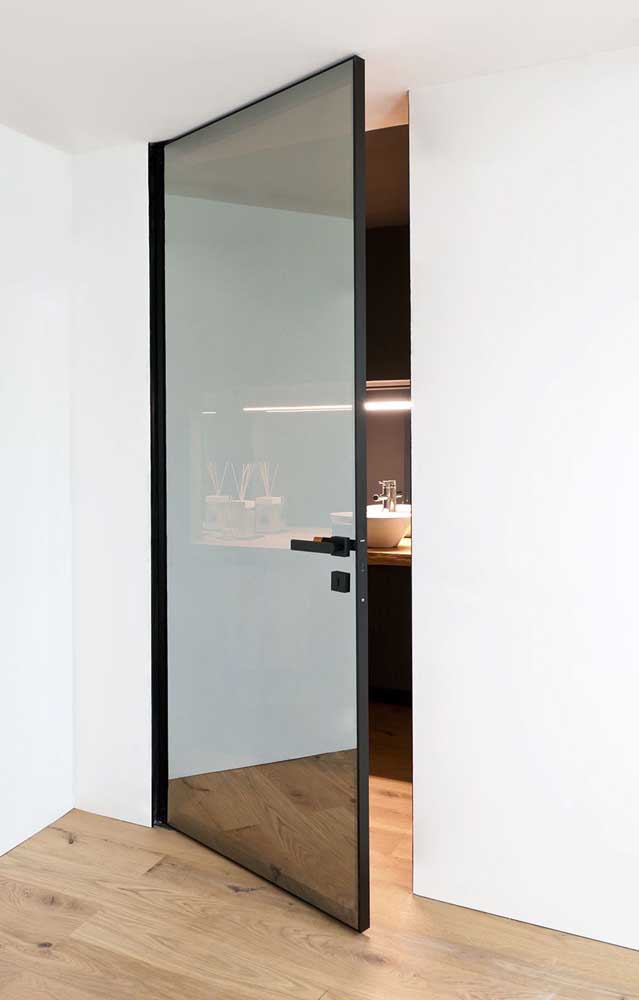 porta de vidro fume para quarto