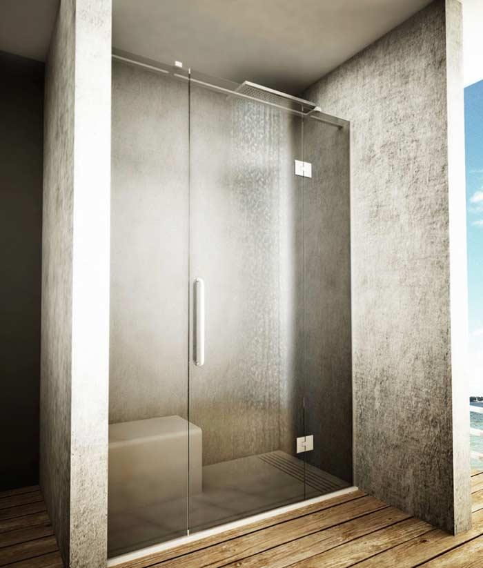 porta de vidro para banheiro com pelicula