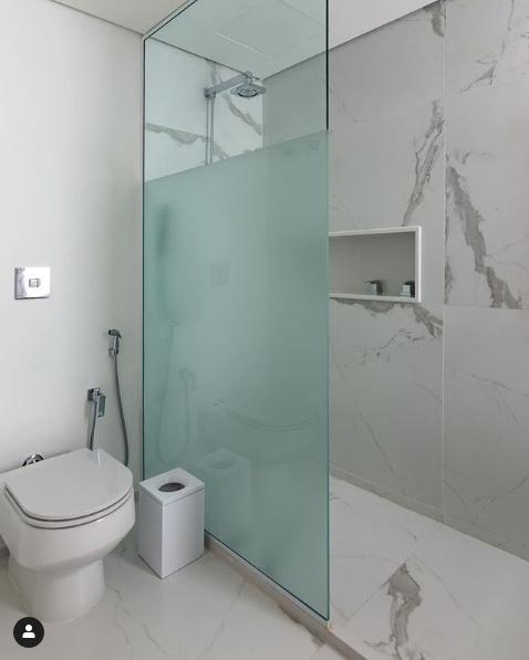 porta de vidro para banheiro jateado
