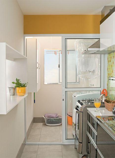 porta de vidro para cozinha de correr
