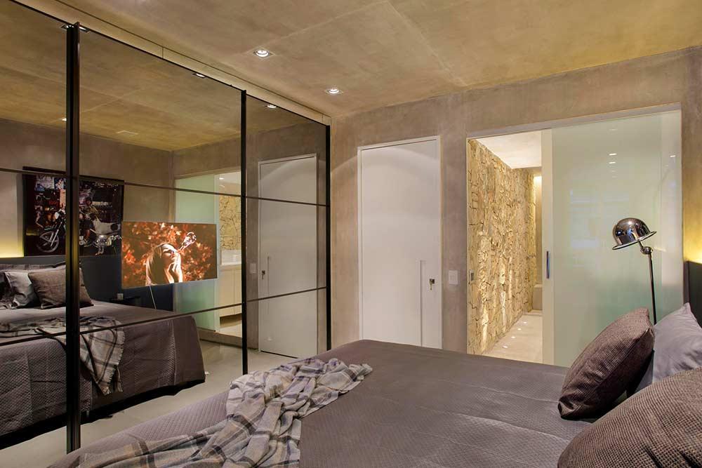 porta de vidro temperado para quarto grande