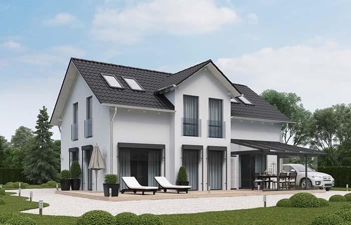 telhado completamente esmaltado de telhas francesas