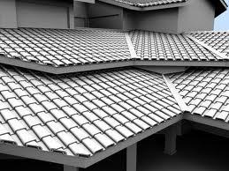 telhado de mais de um andar de telhas francesas brancasa
