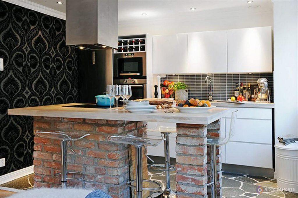 balcao de granito na cozinha americana