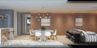 cozinha modelo americano sala de estar e jantar no mesmo ambiente