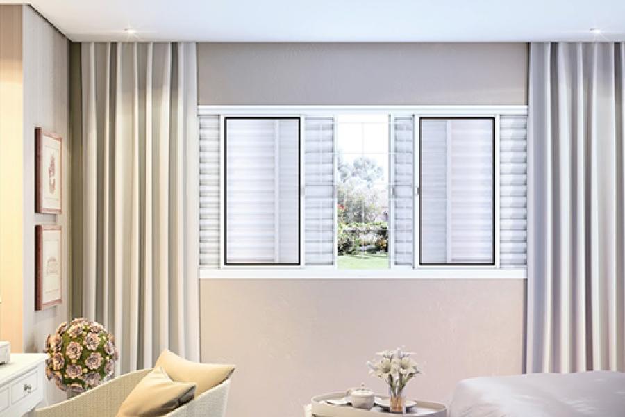 janela de aluminio para quarto 100x120