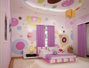 cor rosa com cerâmica alocada no quarto