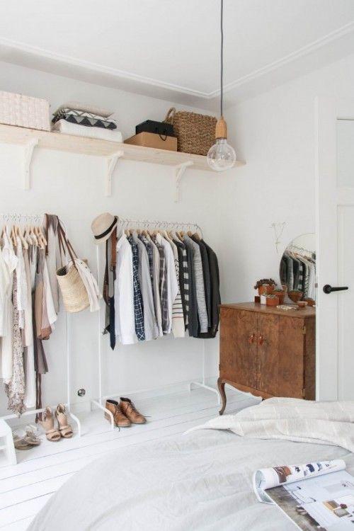 Closet aberto pequenos e simples