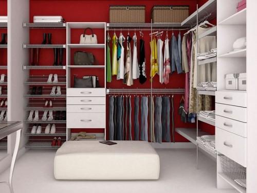 Closet modulado aberto em branco