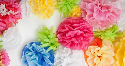Flores artesanais de papel