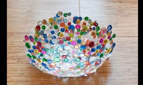 Tijela artesanal colorida para centro de mesa