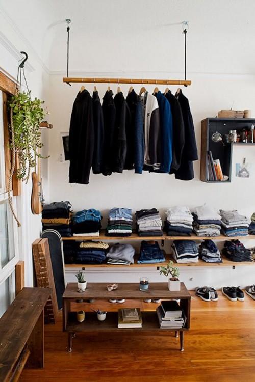 conceito de cabideiro para closet