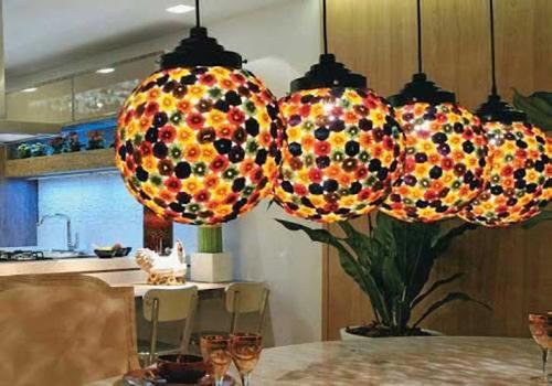 luzes coloridas para balcões de cozinha