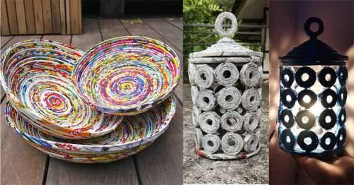 luzes e potes artesanais feitos em casa