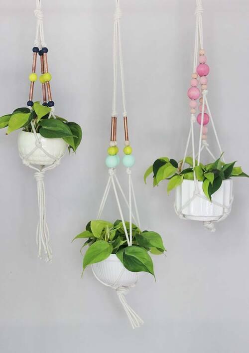 potes suspensos para plantas