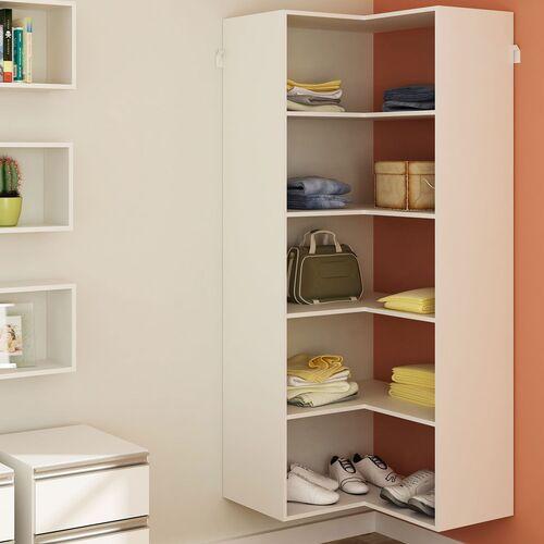closet de canto simples branco