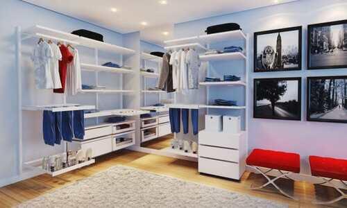 closet de dois cantos modulado grande