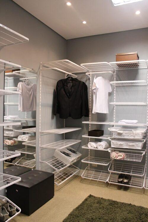 closet modulado aramado para quarto de casal