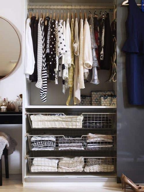 closet modulado com gavetas gradeadas