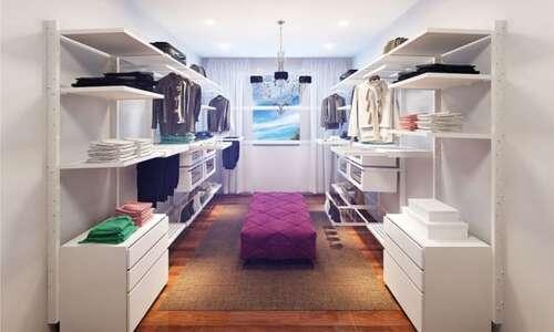 closet modulado com gavetas