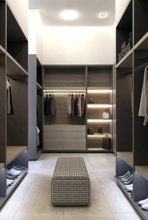 closet modulado marrom com gavetas grandes