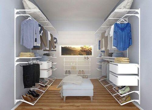 closetu feito em modulos com armação
