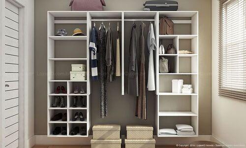 mdf como material principal de um closet